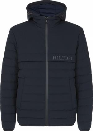 Streched hooded jacket logo